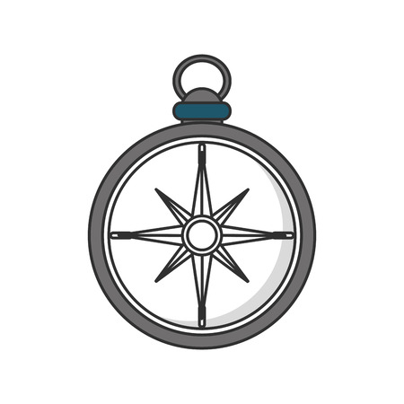 latitude: Compass icon. Instrument tool navigation and location theme. Isolated design. Vector illustration Illustration