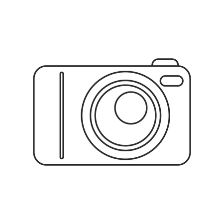 capturing: Camera icon. device gadget technology theme. Isolated design. Vector illustration