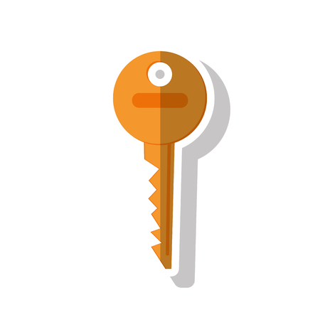 Key icon. security system warning and protection theme. Isolated design. Vector illustration