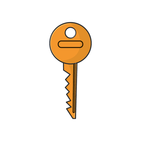 malware: Key icon. security system warning and protection theme. Isolated design. Vector illustration