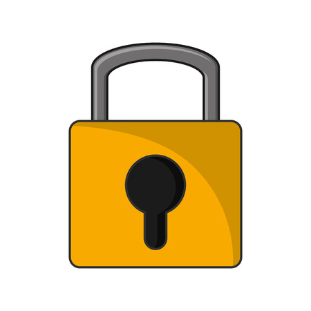 warning system: Padlock icon. security system warning and protection theme. Isolated design. Vector illustration Illustration