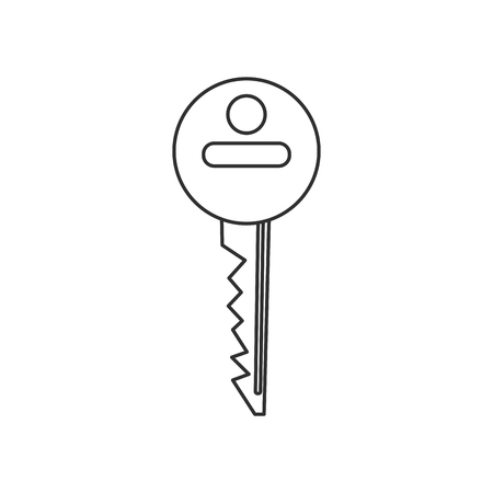 detected: Key icon. security system warning and protection theme. Isolated design. Vector illustration