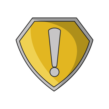 Padlock icon. security system warning and protection theme. Isolated design. Vector illustration Illustration