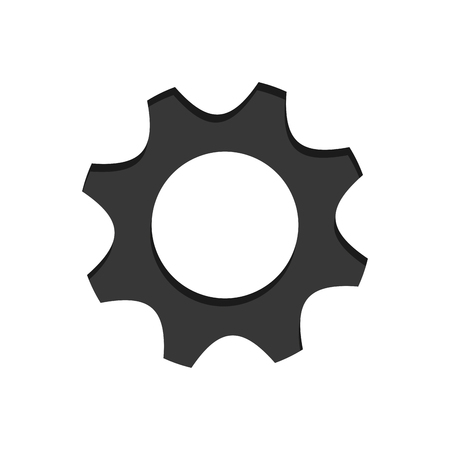 machine part: Gear icon. Machine part technology industry and wheel theme. Isolated design. Vector illustration Illustration