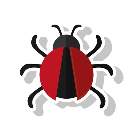 parasitic infestation: Bug icon. Insect pest bed and internet theme. Isolated design. Vector illustration