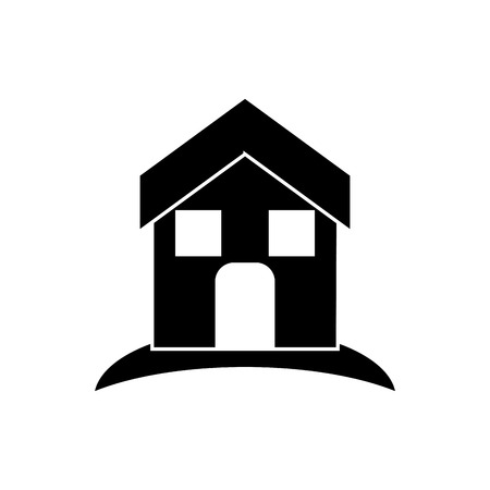 home buyer: House and home building icon. Real estate construction property and investment theme. Isolated design. Vector illustration