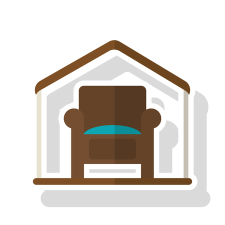 home buyer: Chair inside house icon. Real estate construction property and investment theme. Isolated design. Vector illustration