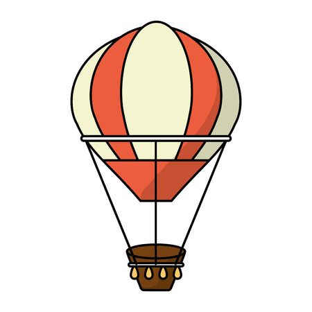 Hot air balloon icon. transportation vehicle travel and trip theme. Isolated and colorful design. Vector illustration