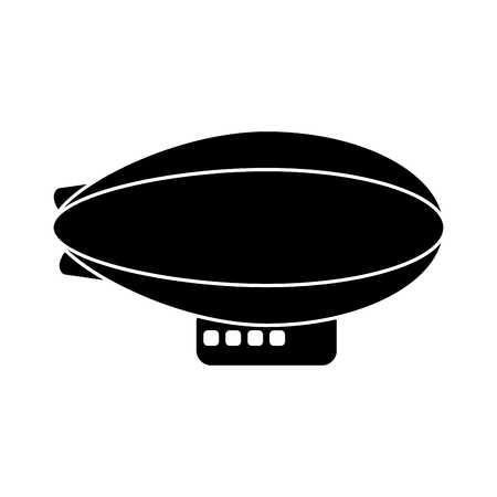 Zeppelin icon. transportation vehicle travel and trip theme. Isolated design. Vector illustration