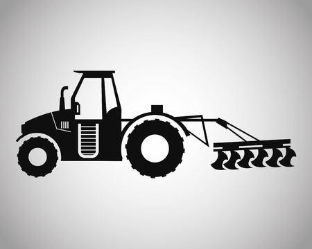 Truck machine icon. Farm lifestyle agriculture harvest and rural theme. Silhouette and isolated design. Vector illustration