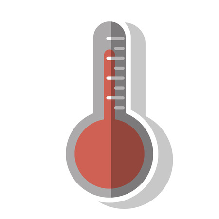 instrument of measurement: Thermometer icon. Instrument  measurement and temperature theme. Isolated design. Vector illustration Illustration