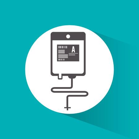 blood bag: Blood bag icon. Medical health care and hospital  theme. Colorful design. Vector illustration