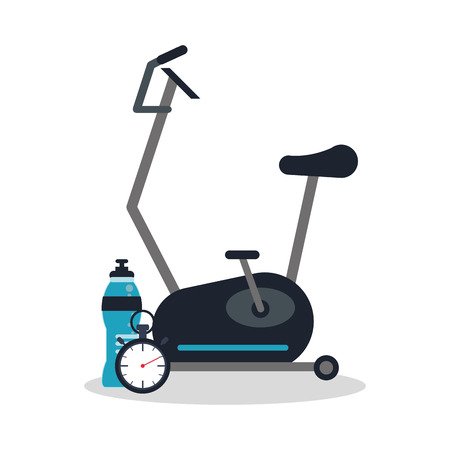 Bike machine icon. Healthy lifestyle fitness and gym theme. Colorful design. Vector illustration