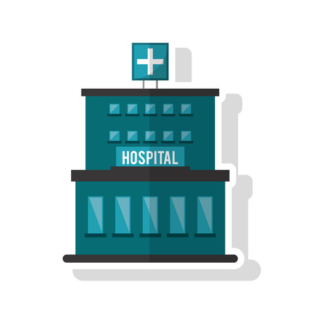 urgent care: Hospital building icon. Medical and health care theme. Isolated design. Vector illustration Illustration