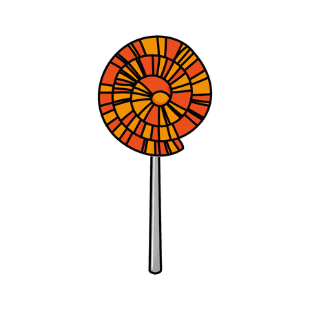 county fair: Lolly icon. Fair food snack carnival and festival theme. Isolated design. Vector illustration