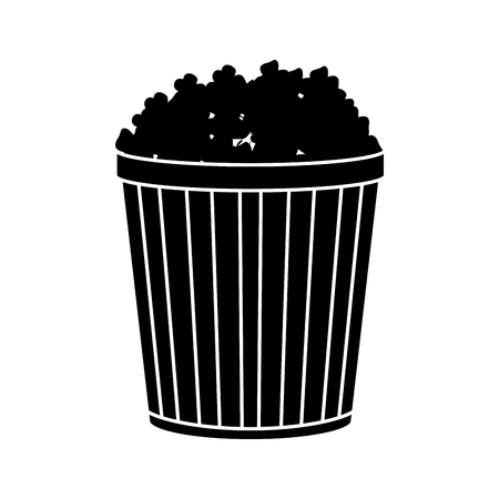 fresh pop corn: Pop corn icon. Fair food snack carnival and festival theme. Isolated design. Vector illustration Illustration