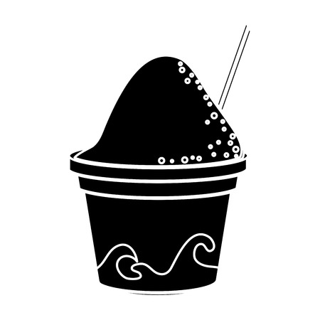 sorbet: Ice cream icon. security system warning and protection theme. Isolated design. Vector illustration Illustration