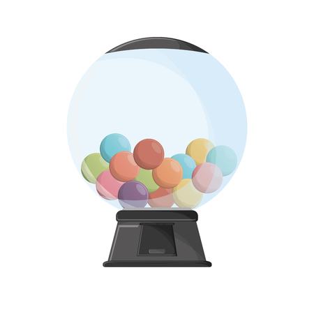 Candy sphere con. Fair food snack carnival and festival theme. Isolated design. Vector illustration