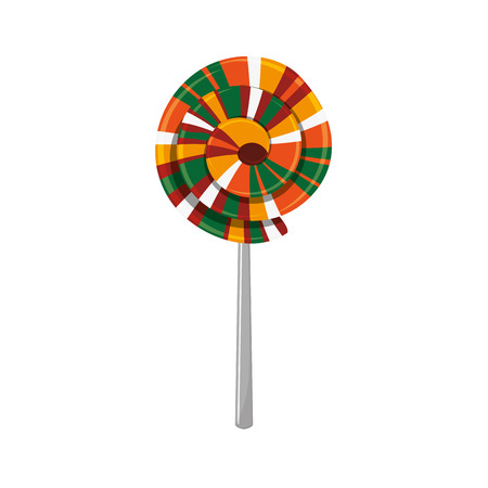Lolly icon. Fair food snack carnival and festival theme. Isolated design. Vector illustration