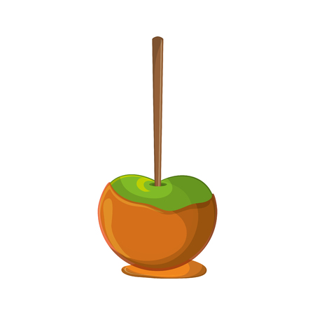Sweet apple icon. Fair food snack carnival and festival theme. Isolated design. Vector illustration