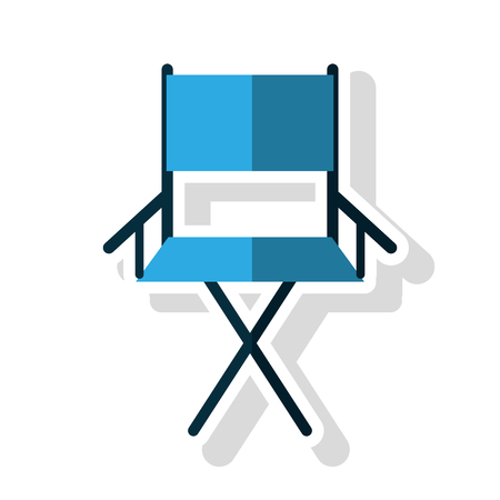 cinema viewing: Cinema directors chair icon. Movie video media and entertainment theme. Isolated design. Vector illustration