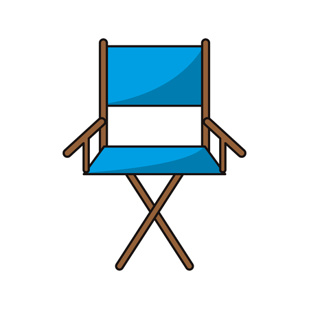 director's chair: Cinema directors chair icon. Movie video media and entertainment theme. Isolated design. Vector illustration