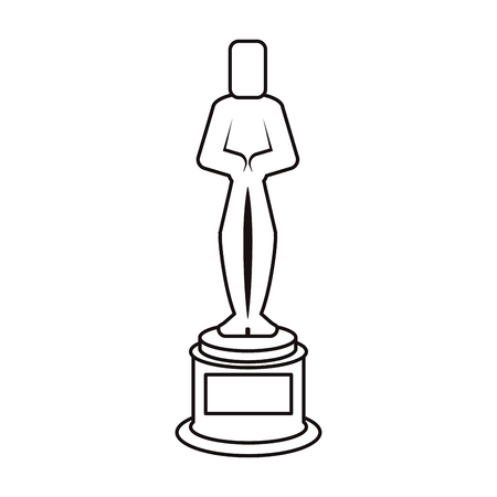 Cinema trophy icon. Movie video media and entertainment theme. Isolated design. Vector illustration Illustration
