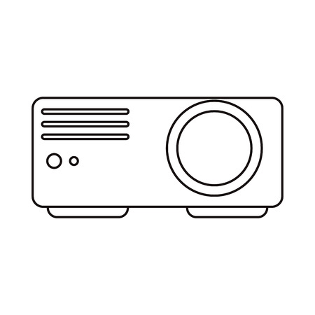 cinema viewing: Cinema video beam icon. Movie media and entertainment theme. Isolated design. Vector illustration