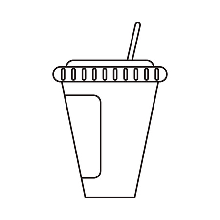 Soda mug icon. Drink cola cold liquid and beverage theme. Isolated design. Vector illustration