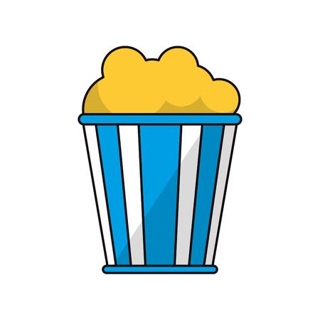 pop corn: Cinema pop corn icon. Movie video media and entertainment theme. Isolated design. Vector illustration Illustration