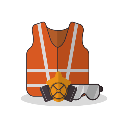 detection: Jacket and glasses icon. Industrial safety security and protection theme. Colorful design. Vector illustration