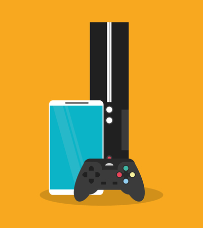 videogame: Smartphone and videogame icon. House supplies appliances and electronic theme. Colorful design. Vector illustration