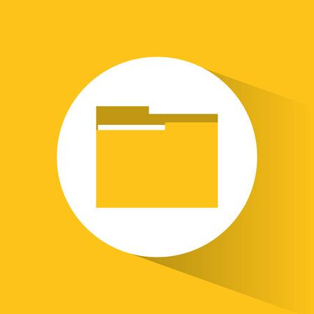 File icon. Big data center base and information theme. Colorful design. Vector illustration Illustration