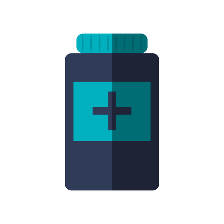 Medicine jar icon. Medical and health care theme. Isolated design. Vector illustration
