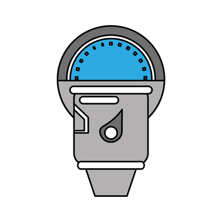 Parking meter icon. Park space road street rule and area theme. Isolated design. Vector illustration