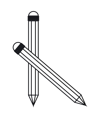 secretarial: Pencil icon. Write tool office object and instrument theme. Isolated design. Vector illustration