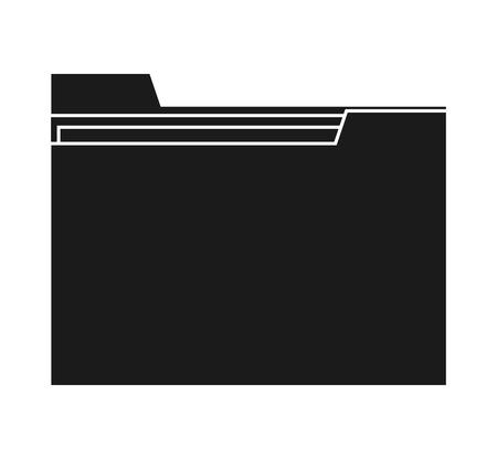 organize: File icon. Folder data archive storage and organize theme. Isolated design. Vector illustration