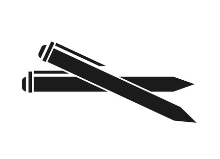 secretarial: Pen icon. Write tool office object and instrument theme. Isolated design. Vector illustration