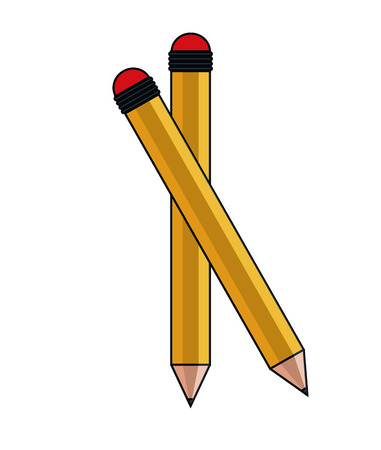 Pencil icon. Write tool office object and instrument theme. Colorful and isolated design. Vector illustration