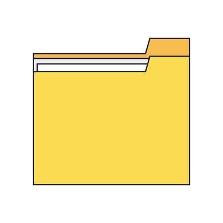 organize: Yellow file icon. Folder data archive storage and organize theme. Colorful and isolated design. Vector illustration