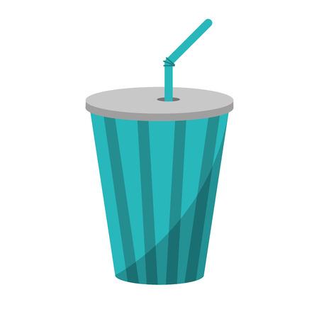 Soda icon. Drink cola cold liquid and beverage theme. Vector illustration Illustration