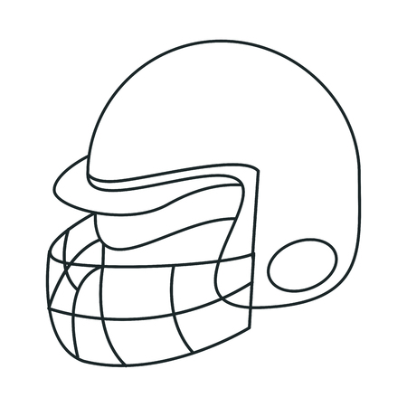 sportive: Helmet icon. American football sport competition and game theme. Vector illustration