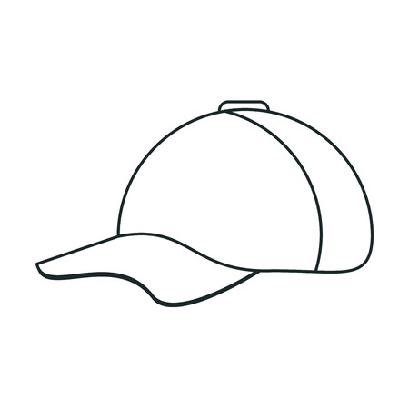 sportive: Hat icon. Baseball sport competition and game theme. Vector illustration