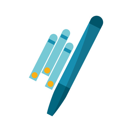 Paper probe icon. Medical and health care theme. Isolated design. Vector illustration