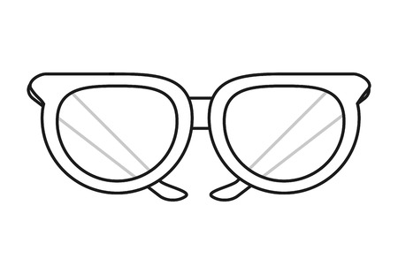 Glasses icon. Fashion style accessory and eyesight theme. Isolated design. Vector illustration