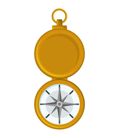 Compass icon. Instrument tool navigation and location theme. Isolated design. Vector illustration Illustration
