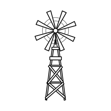 wind mill: Wind mill icon. Ecology renewable conservation and saving theme. Isolated design. Vector illustration