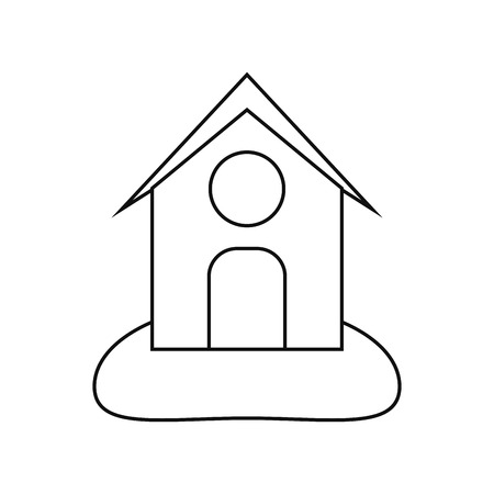 cultivating: Farm building icon. Stable nature rural farming theme. Isolated design. Vector illustration Illustration