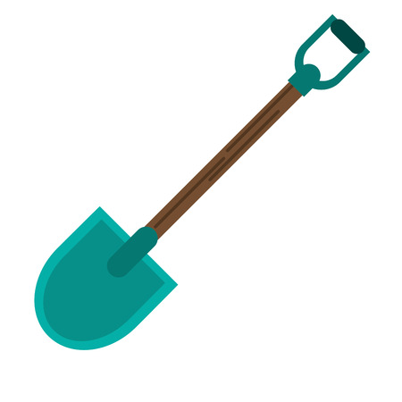Shovel icon. Tool instrument repair and construction theme. Isolated design. Vector illustration