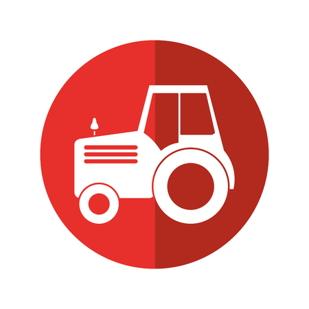 Truck machine icon. Farm lifestyle agriculture and harvest theme. Isolated design. Vector illustration